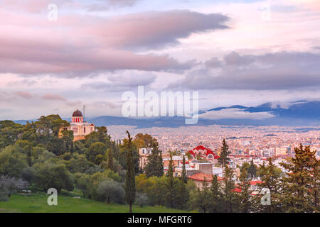 Church of St Marina in Thissio in Athens, Greece - Stock Photo