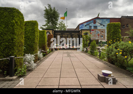 Peace Garden, Falls Road, Belfast, Ulster, Northern Ireland, United Kingdom, Europe - Stock Photo