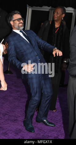 LOS ANGELES, CA - APRIL 23: Actor Mark Ruffalo attends the World Premiere of Disney and Marvels 'Avengers: Infinity War' on April 23, 2018 in Los Angeles, California. Photo by Barry King/Alamy Live News - Stock Photo