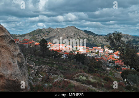 Monsanto mountain fields and nature in Portugal - Stock Photo