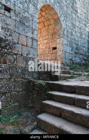 Monsanto castle gate. Castelo Branco, Portugal - Stock Photo
