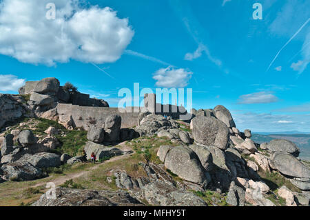 Monsanto Castle on Top of the hill. Castelo Branco, Portugal - Stock Photo