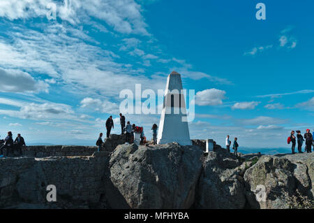 Tourists visiting the castle of Monsanto. Portugal - Stock Photo