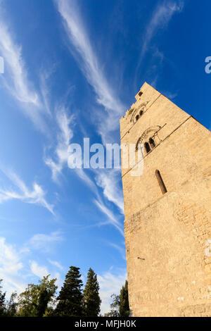 Torre Campanaria, Erice, province of Trapani, Sicily, Italy, Europe