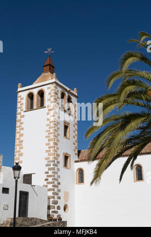 Church of Santa Maria in the small town of Betancuria on the volcanic island of Fuerteventura, Canary Islands, Spain, Atlantic, Europe - Stock Photo