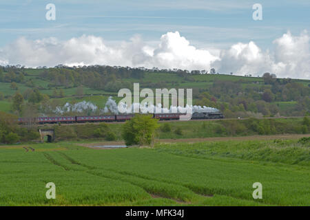 Bristol and Bath Railway Path UK. 26th April 2018. The L.M.S. Black five Steam Train No 45212 will be making History as it pulls a main line passenger train for the first time in 50 years. Robert Timoney/Alamy/Live/News - Stock Photo