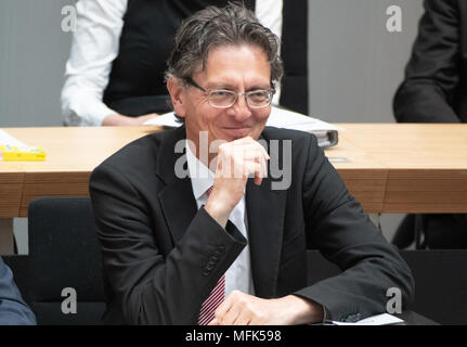 26 April 2018, Germany, Berlin: New leader of the Senate Chancellery from the Social Democratic Party (SPD), Christian Gaebler, taking part in the session for the first time in his new position. Photo: Paul Zinken/dpa Credit: dpa picture alliance/Alamy Live News - Stock Photo