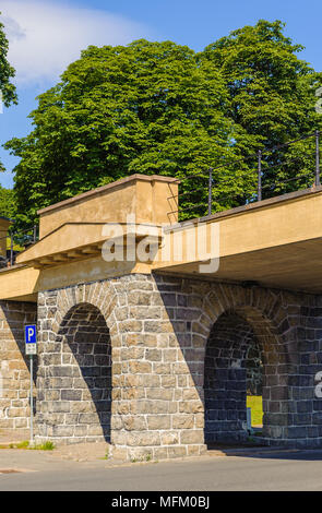 Bridge of the Akershus castle, Oslo, Norway - Stock Photo