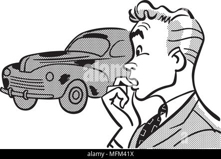 Retro Clip Art Illustration - Retro Clipart Illustration