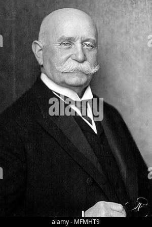 FERDINAND von ZEPPELIN (1838-1917) German army officer and founder of the Zeppelin airship company photographed shortly before his death - Stock Photo