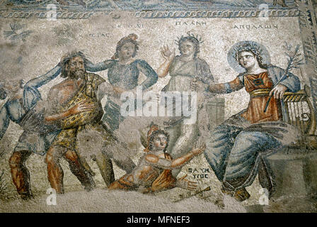 Close-up of a painting of Greek Gods on a wall   Ref: CRB247_10007_002  Compulsory Credit: Jeremy Hoare/Photoshot - Stock Photo