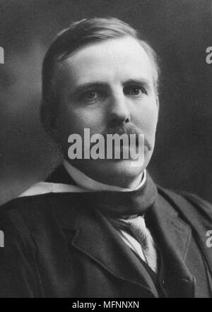 Ernest RUTHERFORD (1871-1937) New Zealand atomic physicist, Nobel prize for chemistry 1908. - Stock Photo