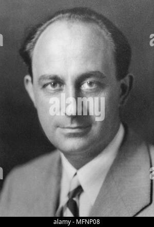 Enrico Fermi (1901-1954) Italian-born American physicist. Atomic energy. Awarded Nobel prize for physics. - Stock Photo