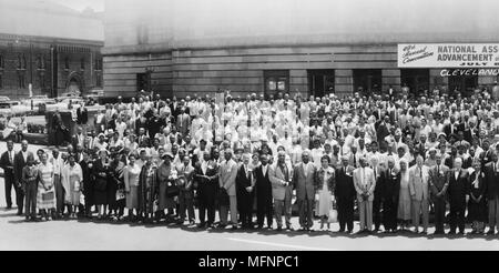 49th Annual Convention, National Association for the Advancement of Colored People, July 8-13, Cleveland, Ohio, USA, July 1958. - Stock Photo