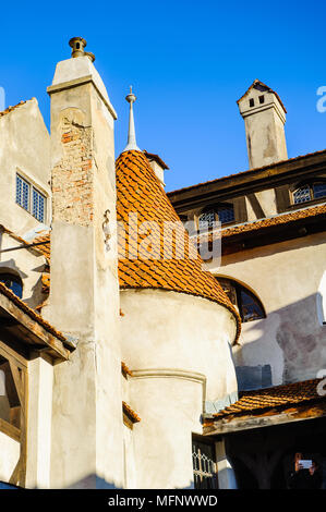 Part of the Dracula Castle in Bran, Romania - Stock Photo