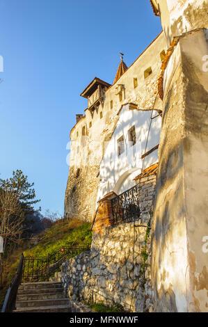 Part of the Dracula Castle in Bran, Romania - Stock Photo