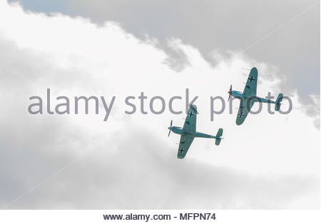 Duxford Battle of Britain 75th anniversary airshow on 20 September 2015 - Stock Photo