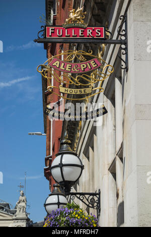 The Butchers Hook and Cleaver public house on Cloth Fair, Smithfield, London, EC1, UK, - Stock Photo