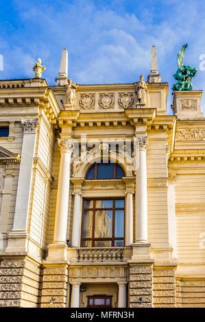 Facade of the  Lviv Opera and Ballet Theatre, - Stock Photo