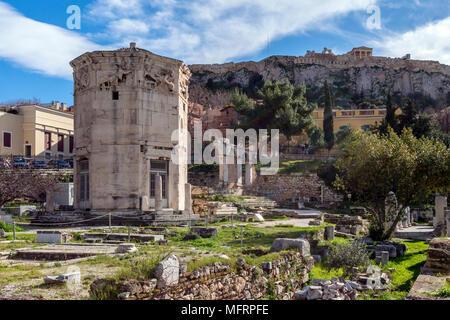 The Acropolis Pantheon In Athens Greece Stock Photo