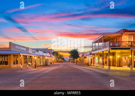 Tombstone, Arizona, USA old western town at sunset. - Stock Photo