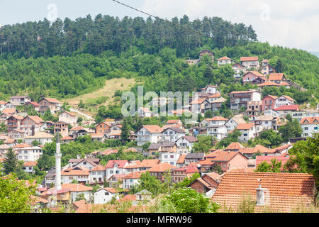 Panoramic view of Sarajevo, Bosnia and Herzegovina - Stock Photo