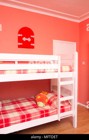 Bunk beds in childs bedroom - Stock Photo