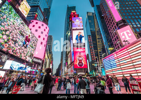 New York city in the USA at Times Square. - Stock Photo