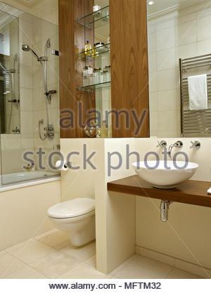 Shower over bathtub in modern bathroom Stock Photo: 181864074 - Alamy