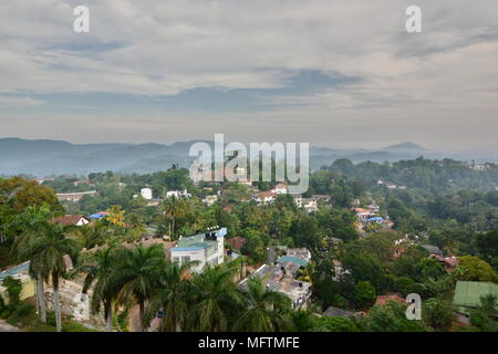 Panoramic view of Kandy hills. Central province. Sri Lanka - Stock Photo