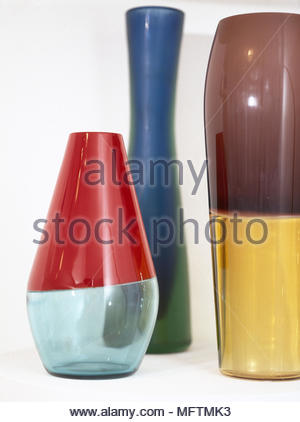 Contemporary Glass Vases In Various Shapes With Oriental Lily
