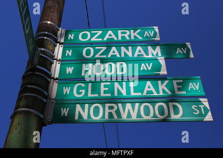 One Chicago street has five names - Ozark Ave, Ozanam Ave, Hood Ave