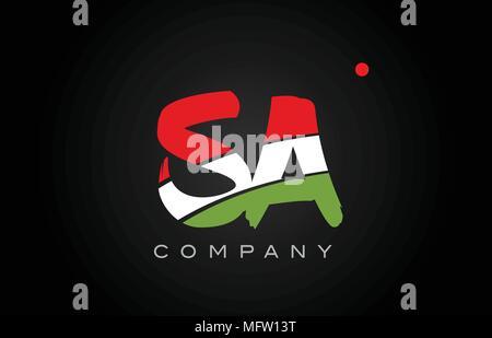 SA S A letter logo combination alphabet vector creative company icon design template modern - Stock Photo