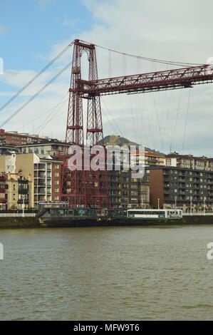 Getxo Bridge Marvelous Architectural Work That Allows Communication Between Getxo and Portugalete. Architecture History Travel. March 25, 2018. Bridge - Stock Photo