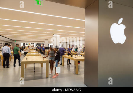 The Apple Store, The Galleria shopping Mall, Houston, Texas USA - Stock Photo
