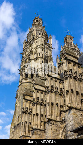 Saint Gatien's Cathedral in Tours, France, Region Centre - Stock Photo