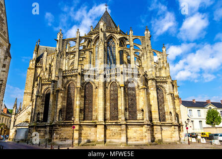Saint Gatien's Cathedral in Tours - France - Stock Photo