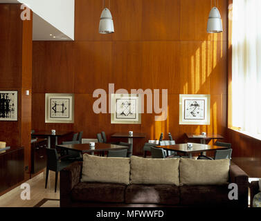 View Of A Comfortable Seating Arrangement In A Living Room Stock