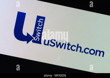 U Switch logo - website for comparing energy prices and other utilities - Stock Photo