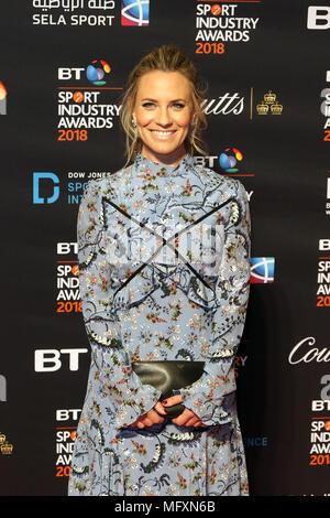 Georgie Thompson, BT Sport Industry Awards, Battersea Evolution, London UK, 26 April 2018, Photo by Richard Goldschmidt Credit: Rich Gold/Alamy Live News - Stock Photo