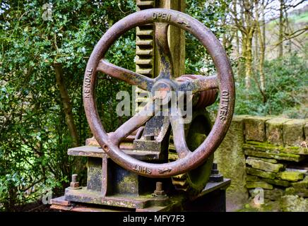 Old Sluice Gate Mechanism - Stock Photo