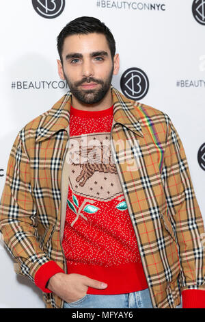 NEW YORK, NY - APRIL 21: Phillip Picardi attends Beautycon Festival NYC 2018 - Day 1 at Jacob Javits Center on April 21, 2018 in New York City. - Stock Photo