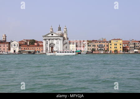 Chiesa di Santa Maria del Rosario, sunny day, Dorsoduro, Venice, Italy, Europe - Stock Photo