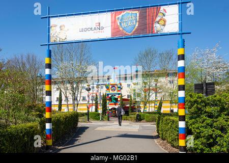 Entrance to Resort Hotel at Legoland Windsor Resort, Windsor Stock ...