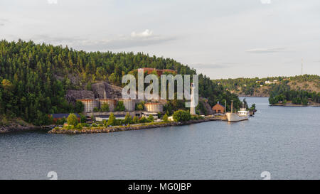 Small port near the Stockholm port of the Blatic sea - Stock Photo