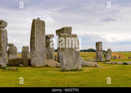 Stonehenge, a prehistoric monument in Wiltshire, England. UNESCO World Heritage Sites - Stock Photo