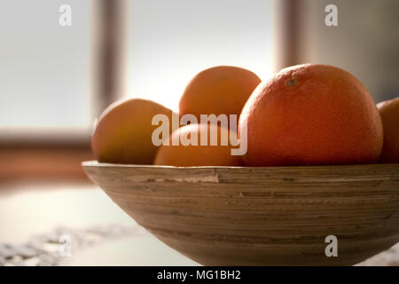 Close up of oranges with blurred background. - Stock Photo