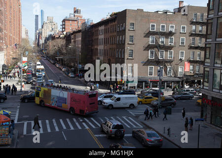 New York City Tour Bus - Stock Photo