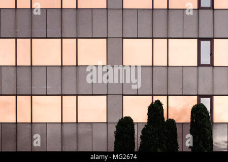 Detail of curtain wall in modern architecture office building. Abstract background - Stock Photo
