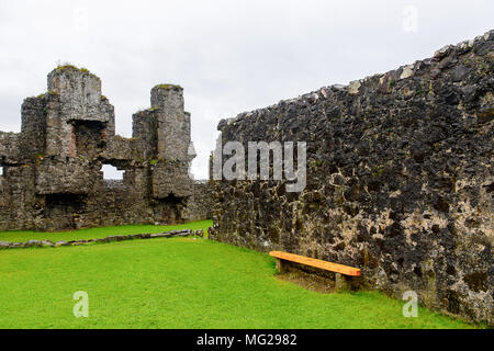 Dunluce Castle, a medieval castle in Northern Ireland. - Stock Photo